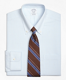 Non-Iron Regent Fit Double Tattersall Dress Shirt