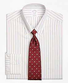 Non-Iron Regent Fit Triple Twin Stripe Dress Shirt