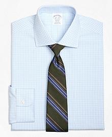 Non-Iron Regent Fit Split Check Dress Shirt