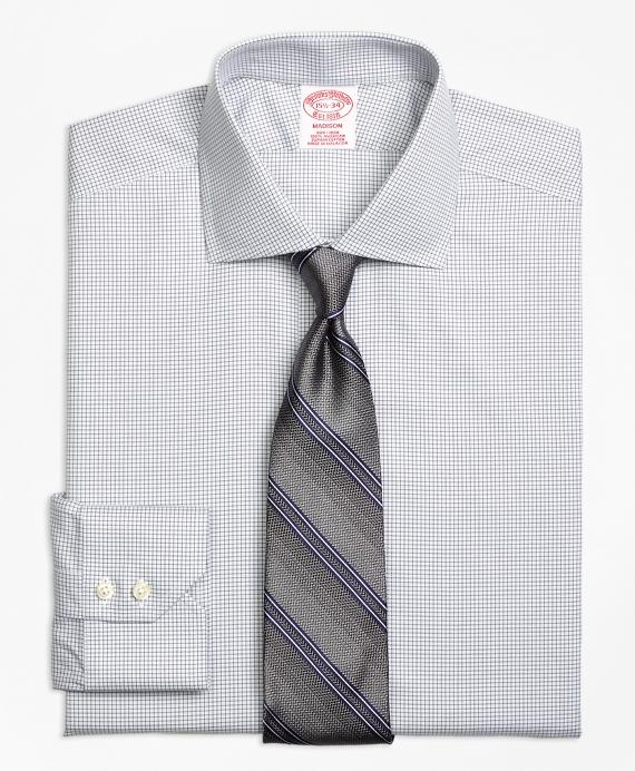 Madison Classic-Fit Dress Shirt, Non-Iron Micro Check Grey