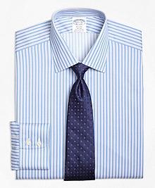 Non-Iron Regent Fit Split Stripe Dress Shirt