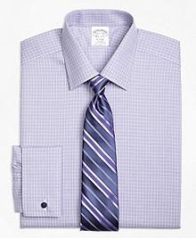 Non-Iron Regent Fit Double Windowpane French Cuff Dress Shirt