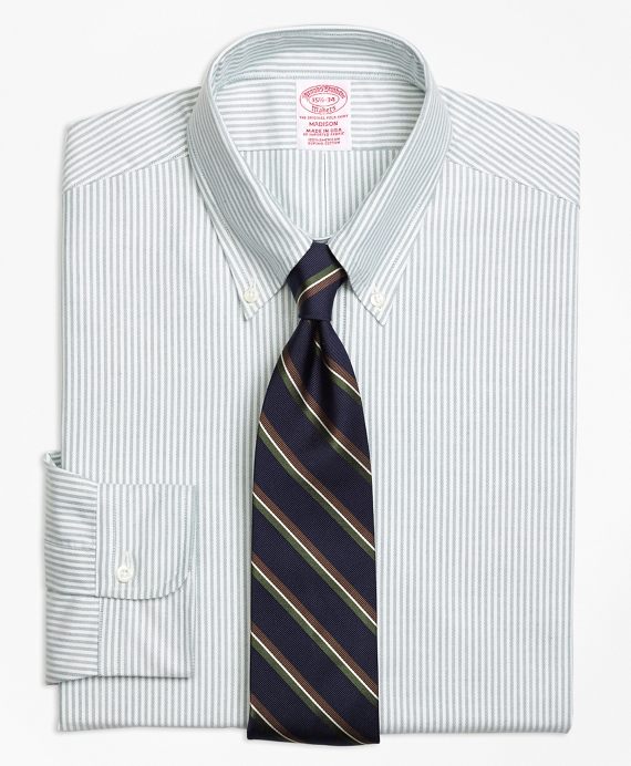 Original Polo® Button-Down Oxford Madison Classic-Fit Dress Shirt, Stripe Green