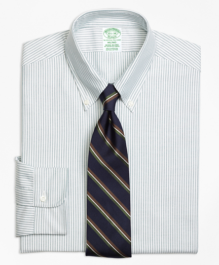 Original Polo® Button-Down Oxford Milano Slim-Fit Dress Shirt, Stripe