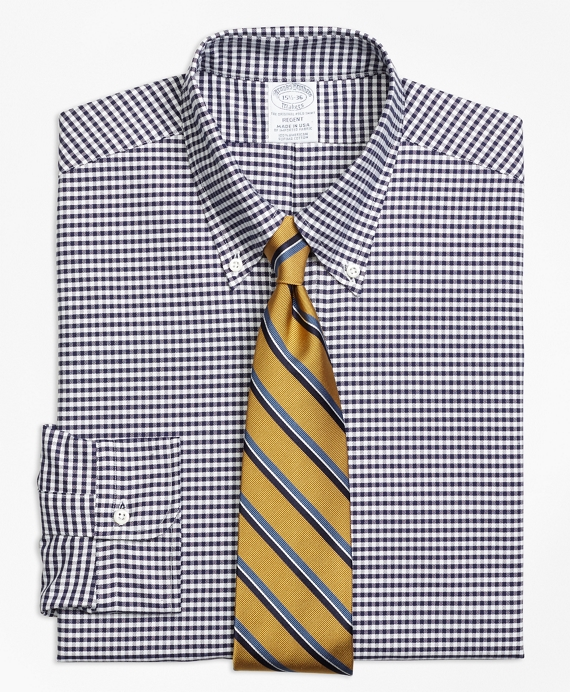 Original Polo® Button-Down Oxford Regent Fitted Dress Shirt, Gingham Blue