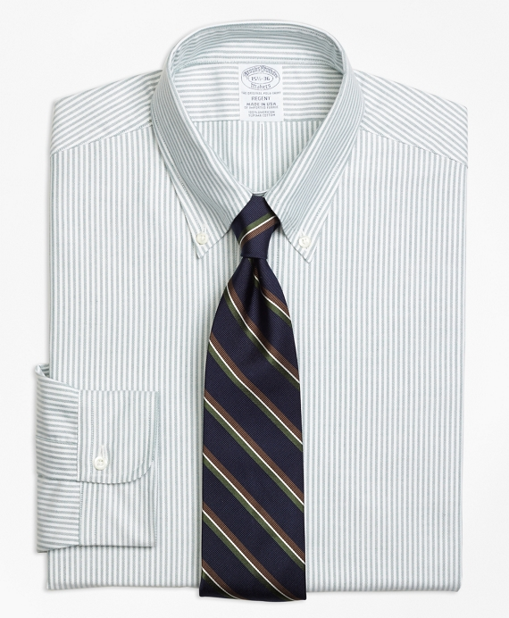 Original Polo® Button-Down Oxford Regent Fitted Dress Shirt, Stripe Green