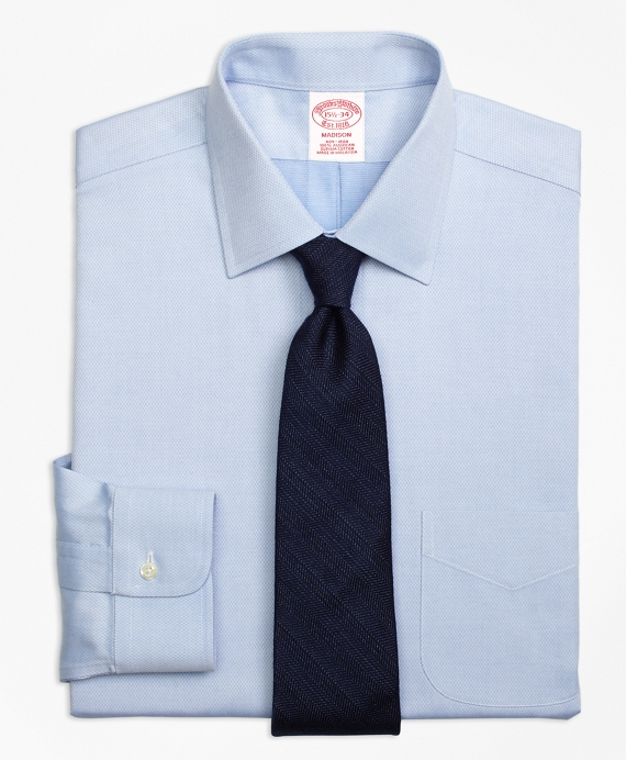 Madison Classic-Fit Dress Shirt, Non-Iron Diamond Dobby Blue