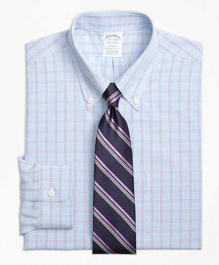 Non-Iron Regent Fit Houndstooth Triple Overcheck Dress Shirt