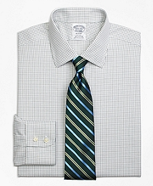 Non-Iron Regent Fit Small Windowpane Dress Shirt