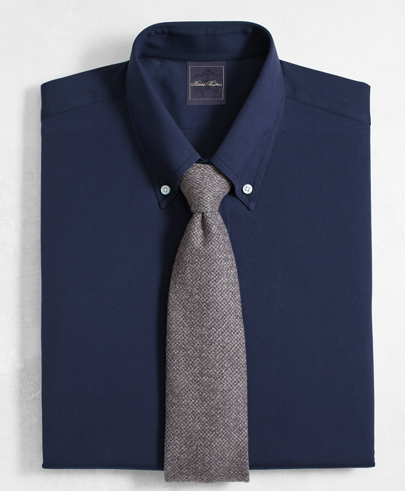 Golden Fleece® Regent Fitted Dress Shirt, Button-Down Collar Navy