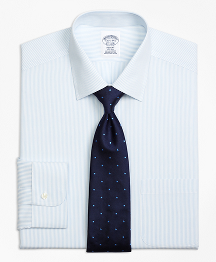 Regent Fitted Dress Shirt, Non-Iron Mini Pinstripe