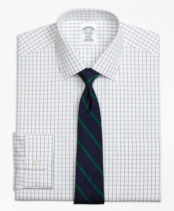 Regent Regular-Fit Dress Shirt,  Non-Iron Windowpane Blue