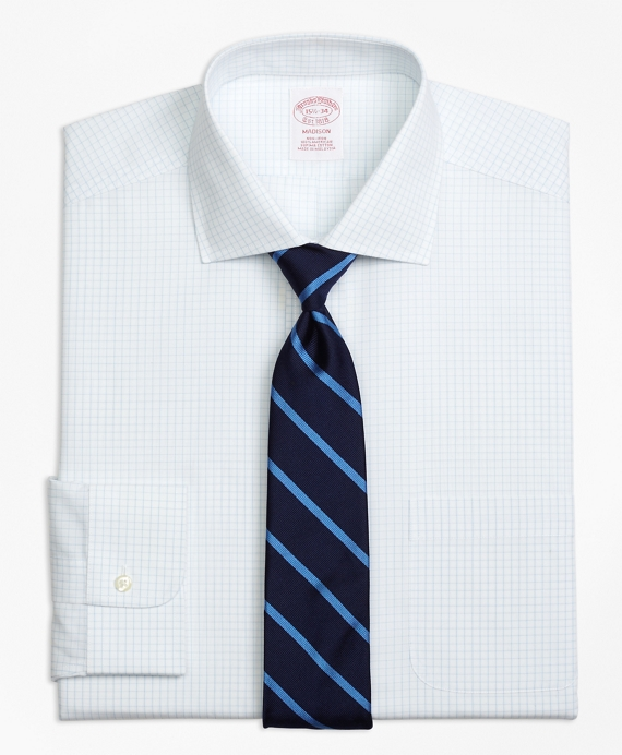 Madison Classic-Fit Dress Shirt, Non-Iron Graph Check Light Blue