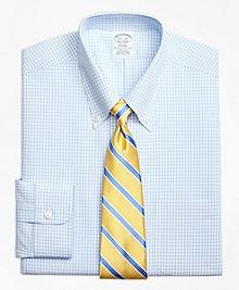 Non-Iron Regent Fit Dobby Gingham Dress Shirt