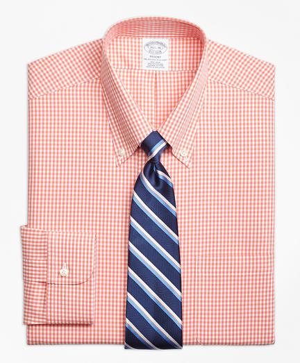 Regent Regular-Fit Dress Shirt,  Non-Iron Dobby Gingham