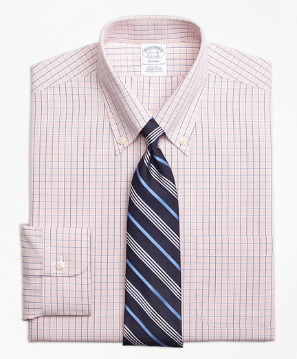 Regent Fitted Dress Shirt, Non-Iron Micro-Tattersall