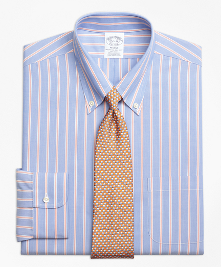 Regent Fitted Dress Shirt, Non-Iron Hairline Twin Stripe