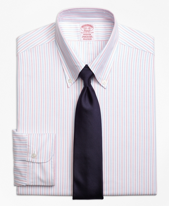 Original Polo® Button-Down Oxford Madison Classic-Fit Dress Shirt, Alternating Bengal Stripe Pink