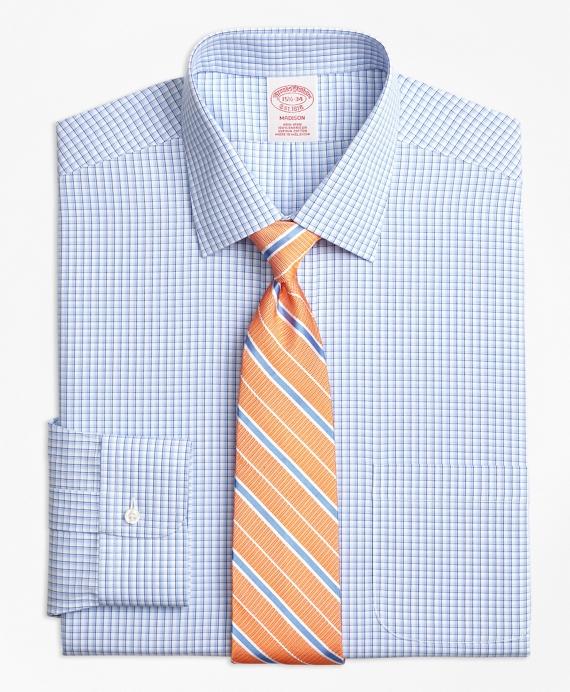 Madison Classic-Fit Dress Shirt, Non-Iron Tonal Sidewheeler Check Blue