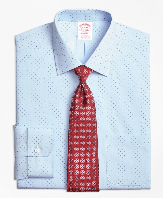 Madison Classic-Fit Dress Shirt, Non-Iron Hairline Pine Light Blue