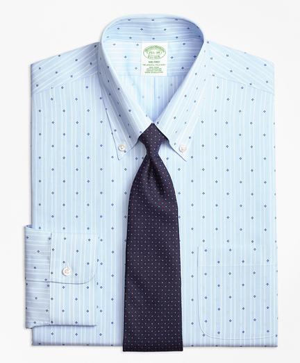 Milano Slim-Fit Dress Shirt, Non-Iron Stripe Flower