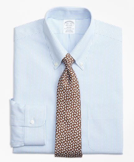 Regent Regular-Fit Dress Shirt, Non-Iron Dobby Candy Stripe