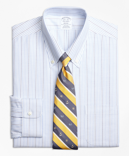 Non-Iron Regent Fit BrooksCool® Candy Stripe Dress Shirt