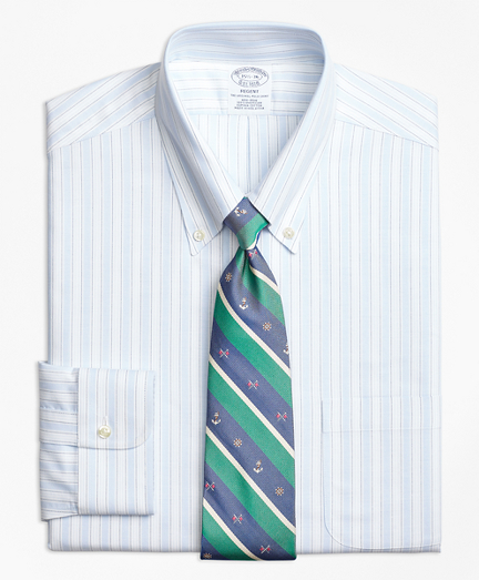 BrooksCool® Regent Fitted Dress Shirt, Non-Iron Music Stripe