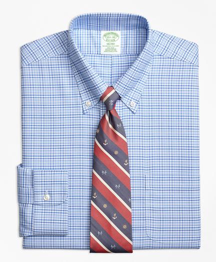 BrooksCool® Milano Slim-Fit Dress Shirt, Non-Iron Glen Plaid
