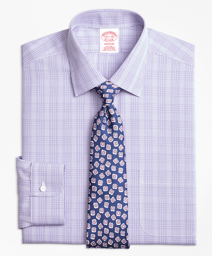 Madison Classic-Fit Dress Shirt, Non-Iron Tonal Plaid