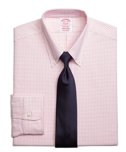 Original Polo® Button-Down Oxford Madison Classic-Fit Dress Shirt, Small Windowpane