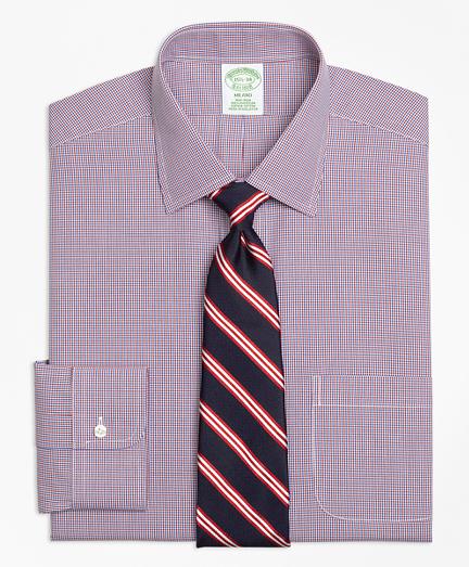 Milano Slim-Fit Dress Shirt, Non-Iron Two-Tone Check