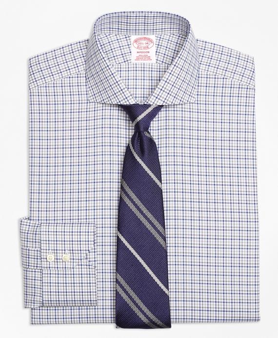 Madison Classic-Fit Dress Shirt, Non-Iron Two-Tone Windowpane Blue