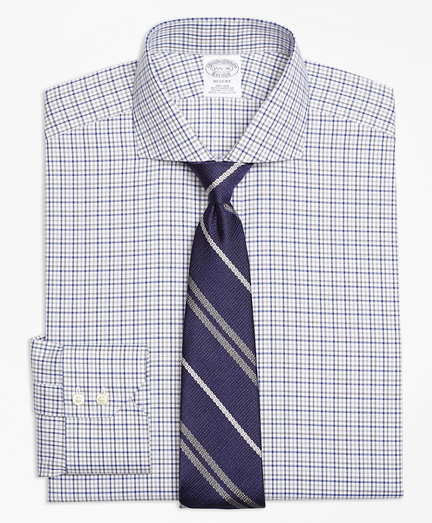 Regent Fitted Dress Shirt, Non-Iron Two-Tone Windowpane