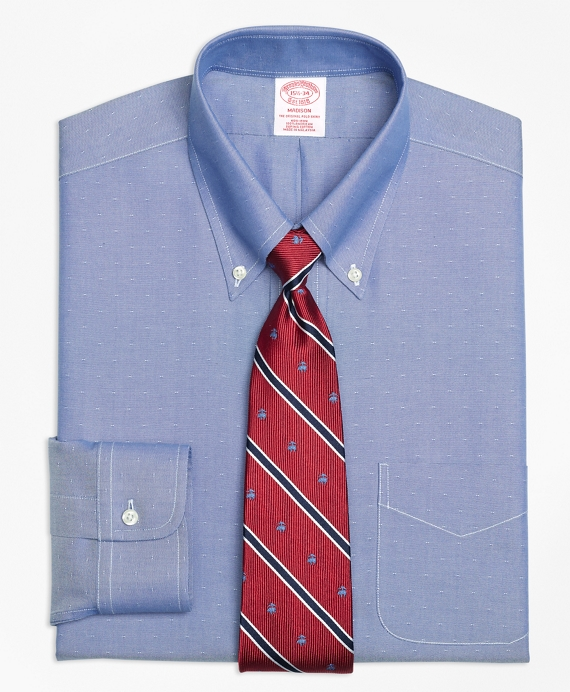 Madison Classic-Fit Dress Shirt, Non-Iron Dobby Blue