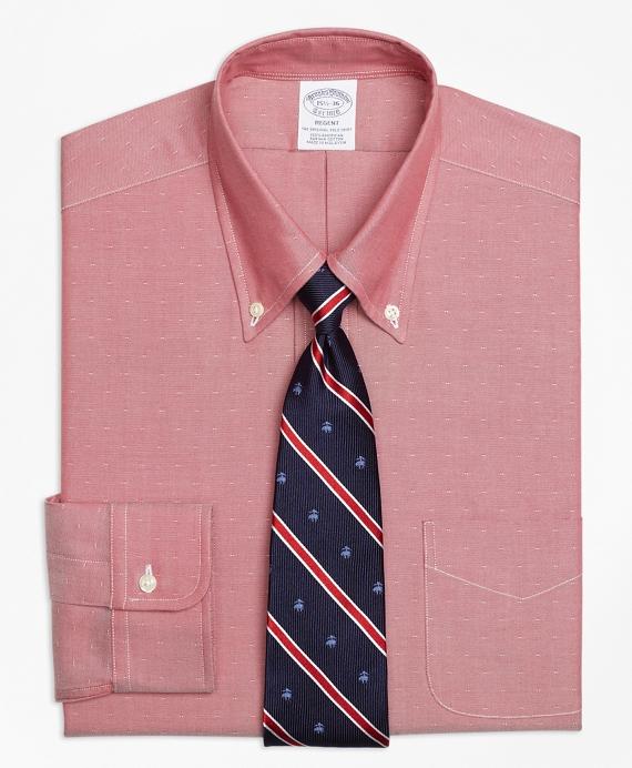 Regent Regular-Fit Dress Shirt, Non-Iron Dobby Red