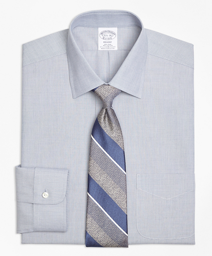 Stretch Regent Fitted Dress Shirt, Non-Iron End-on-End