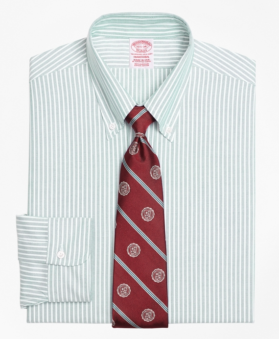 Original Polo® Button-Down Oxford Traditional Relaxed-Fit Dress Shirt, Ground Stripe Green