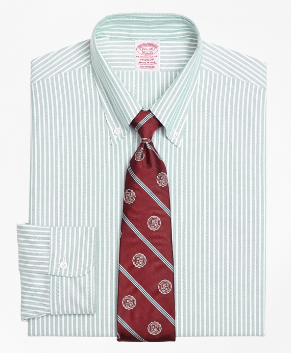 Original Polo® Button-Down Oxford Madison Classic-Fit Dress Shirt, Ground Stripe Green