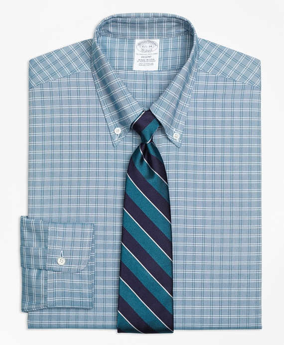Original Polo® Button-Down Oxford Regent Fitted Dress Shirt, Twin Check Green