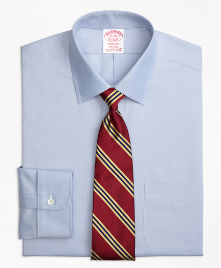 Stretch Madison Classic-Fit Dress Shirt, Non-Iron Pinpoint Spread Collar