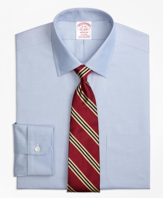 Stretch Madison Classic-Fit Dress Shirt, Non-Iron Spread Collar Blue