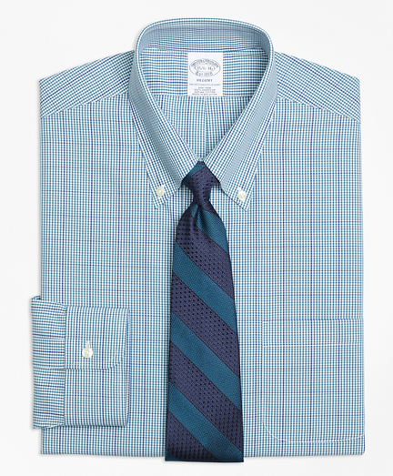 Regent Fitted Dress Shirt, Non-Iron Gingham