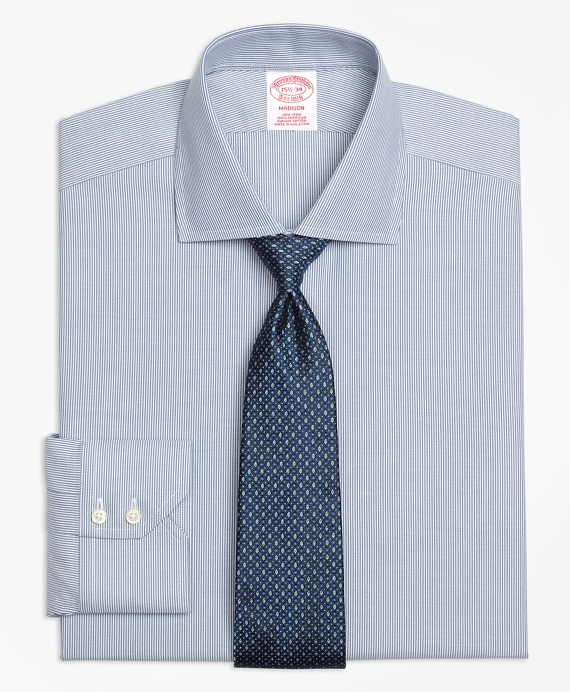 Madison Classic-Fit Dress Shirt, Non-Iron Mini-Stripe Green