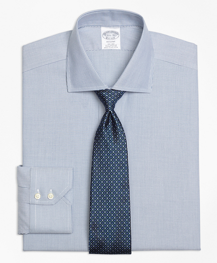 Regent Fitted Dress Shirt, Non-Iron Mini-Stripe