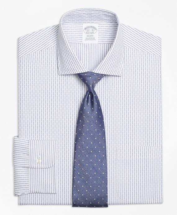 Regent Regular-Fit Dress Shirt, Non-Iron Dobby Candy Stripe Blue