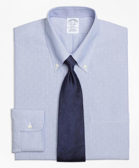Regent Fitted Dress Shirt, Non-Iron Dobby Hairline Stripe Blue