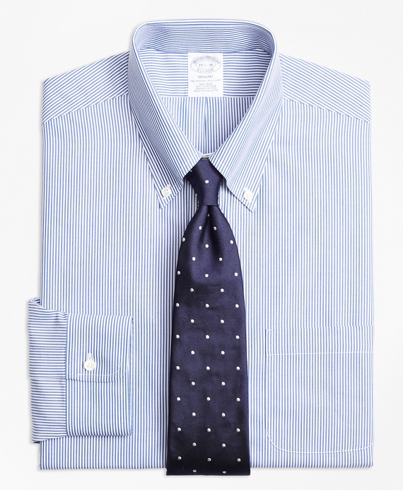 Regent Regular-Fit Dress Shirt, Non-Iron Candy Stripe Blue