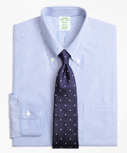Milano Slim-Fit Dress Shirt, Non-Iron Candy Stripe