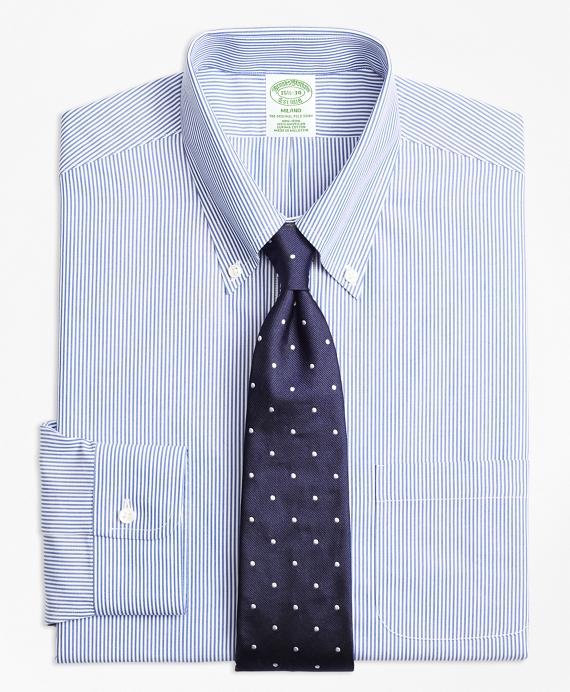 Milano Slim-Fit Dress Shirt, Non-Iron Candy Stripe Blue